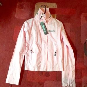 Brand new women's BENCH baby pink jacket. Size L